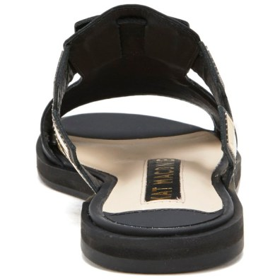 Kat Maconie Women's Bertie Leather Mirror Flat Sandals - Black 2