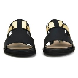 Kat Maconie Women's Bertie Leather Mirror Flat Sandals - Black 3