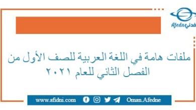 Photo of مذكرات في اللغة العربية للفصل الثاني للصف الأول