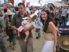 baby and parents at womad festival at rivermead reading