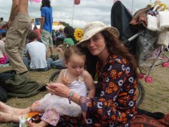 mum and toddler at festival
