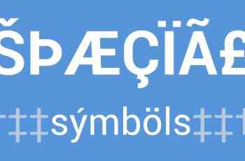 caracteres especiais em html