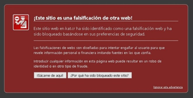 Bloqueo Chrome