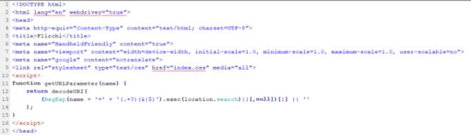 Código con script incluido