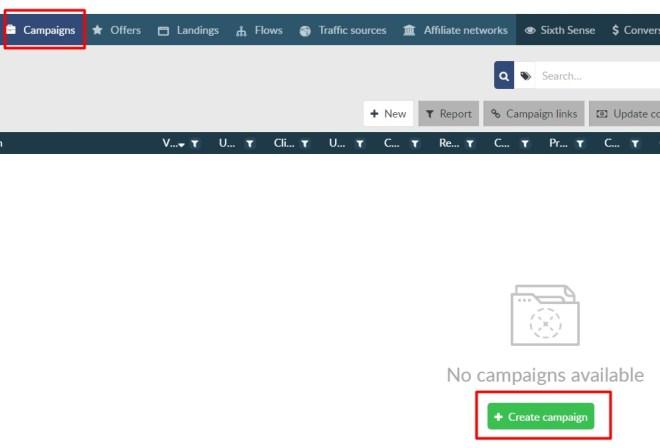 Crear una nueva campaña en BeMob