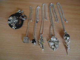 Groupshot of all my FF jewellery (missing Serah's earrings from the photo).