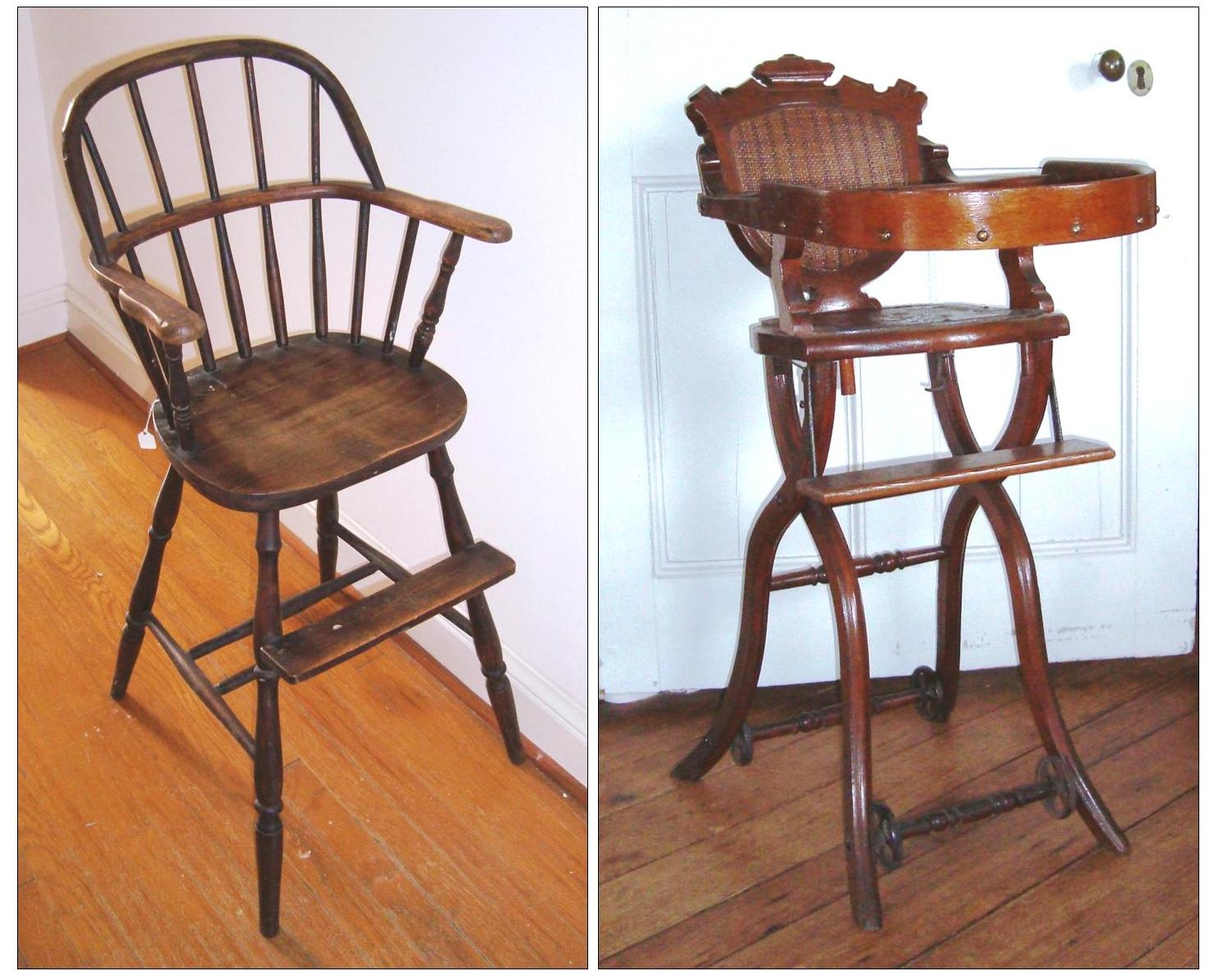 Wooden High Chairs For Babies Infant High Chairs Late 19th Century A Fine Collection