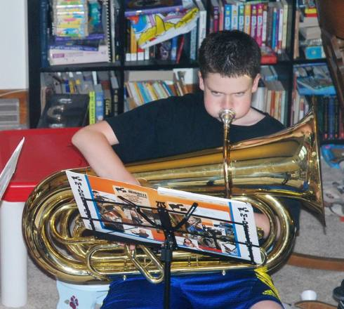 Not his Susaphone, but you get the idea.
