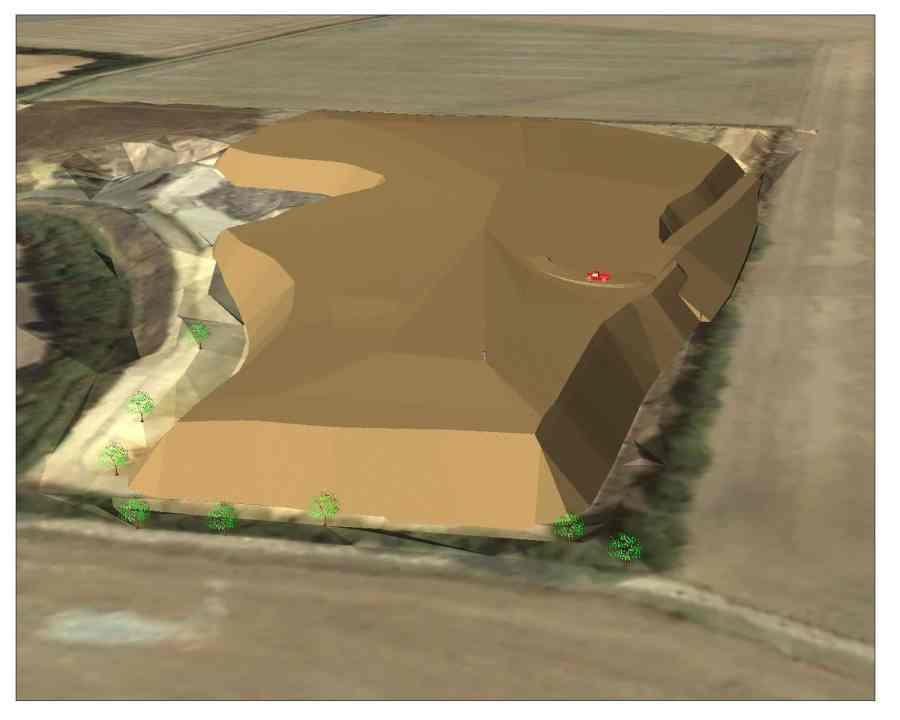 Image 3D de Centre d'enfouissement Technique conçu par Covadis