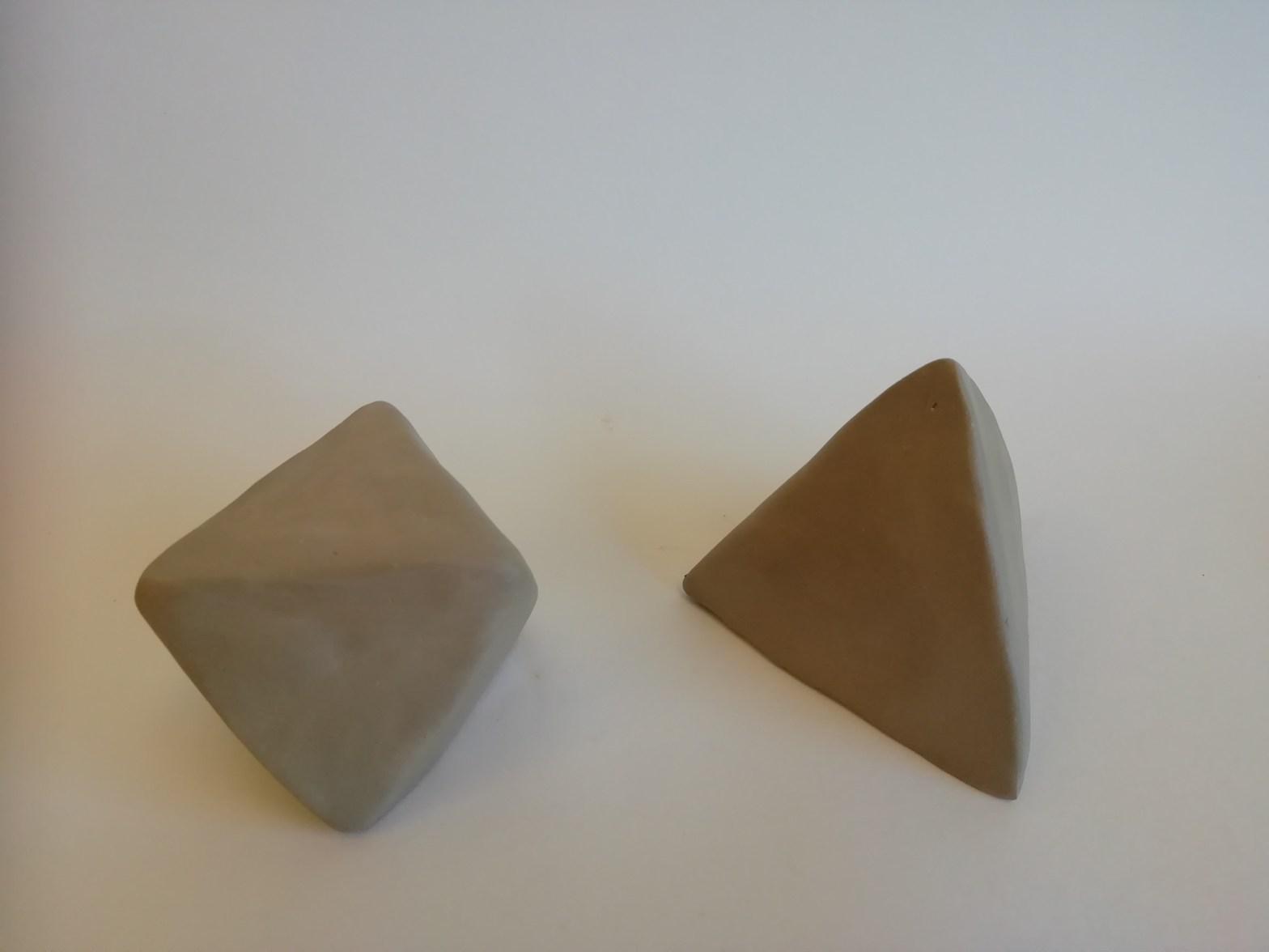 Kunstzinnige oefening tbv concentratie: een octaëder boetseren