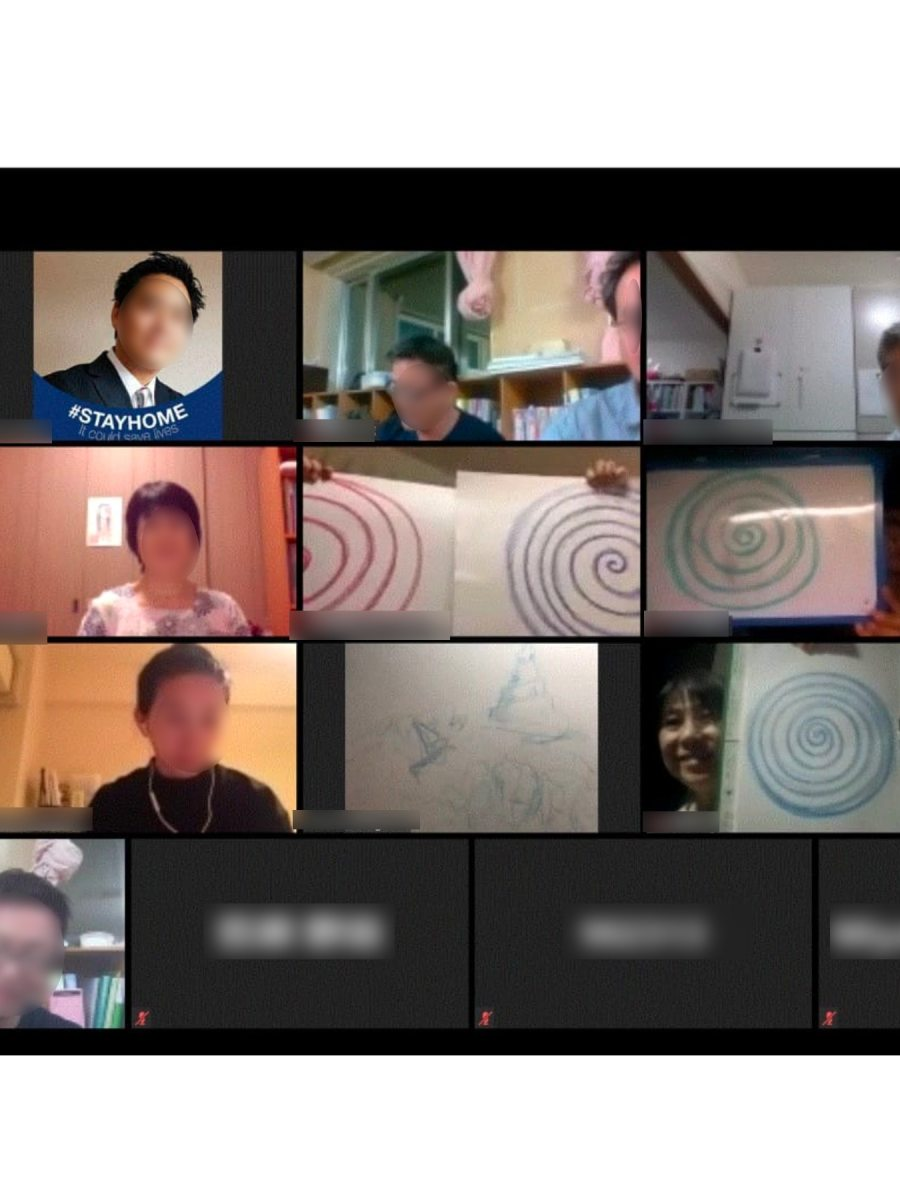 Kunstzinnige workshop via digitale weg voor Japanse hulpeverleners