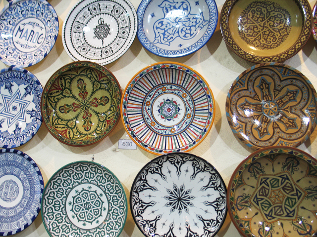Decorative plates are a popular souvenir of Morocco. (Photo ©2013 by Susan McKee)