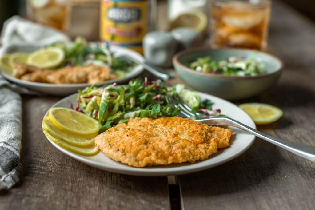 Crispy Chicken Schnitzel with Argo® Corn Starch