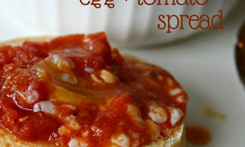 baked pancetta, egg + tomato spread | aflavorjournal.com
