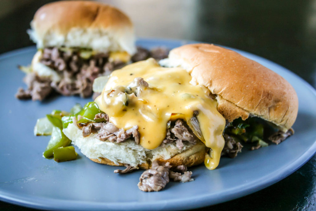 philly cheesesteak sliders | a flavor journal