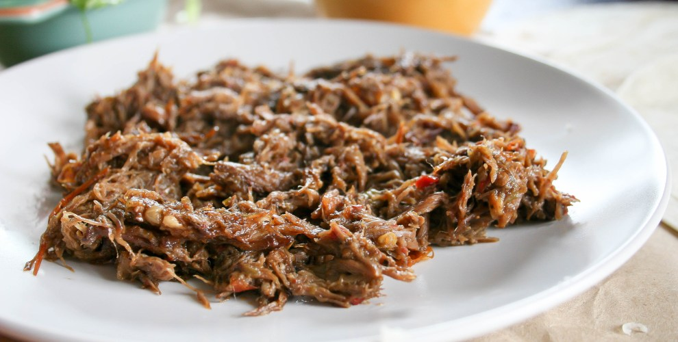 slow cooker spicy shredded beef | a flavor journal
