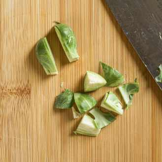 How to chop Brussels sprouts