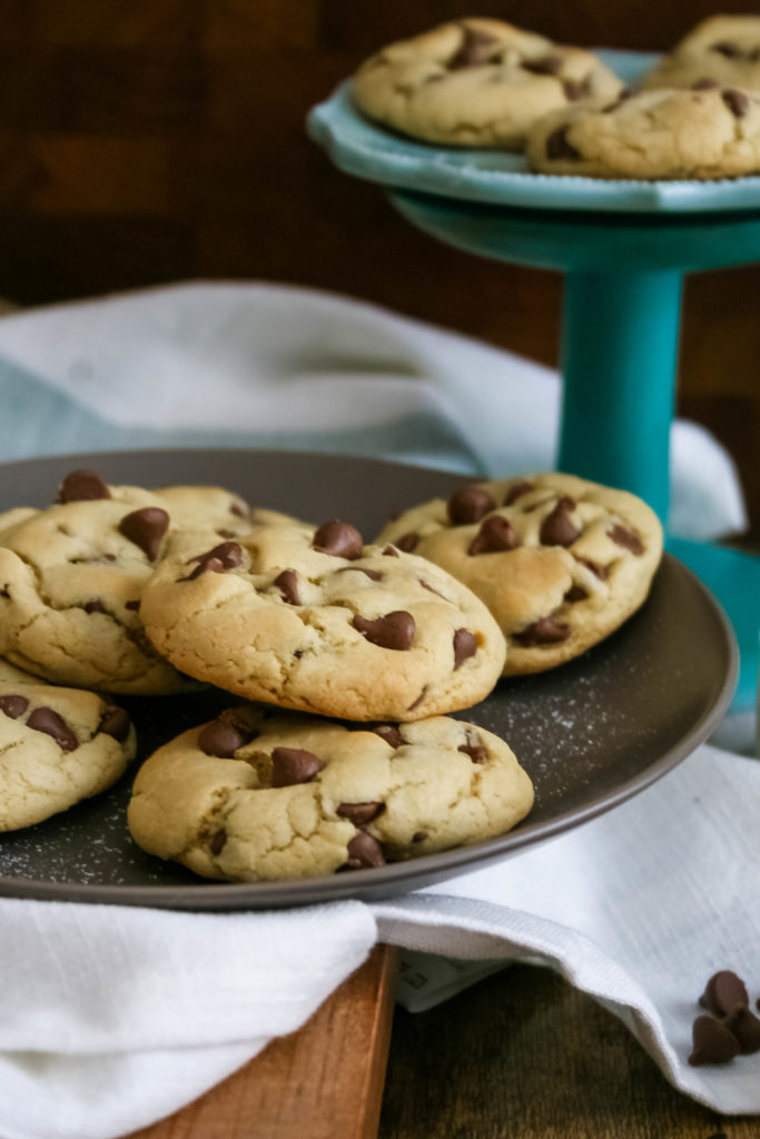 small batch soft and chewy chocolate chip cookies are fluffy, thick, and full of chocolate chip goodness. this smaller batch recipe allows you to just keep a few on hand (or in the freezer!) for those post-dinner dessert cravings. small batch soft and chewy chocolate chip cookies | a flavor journal food blog