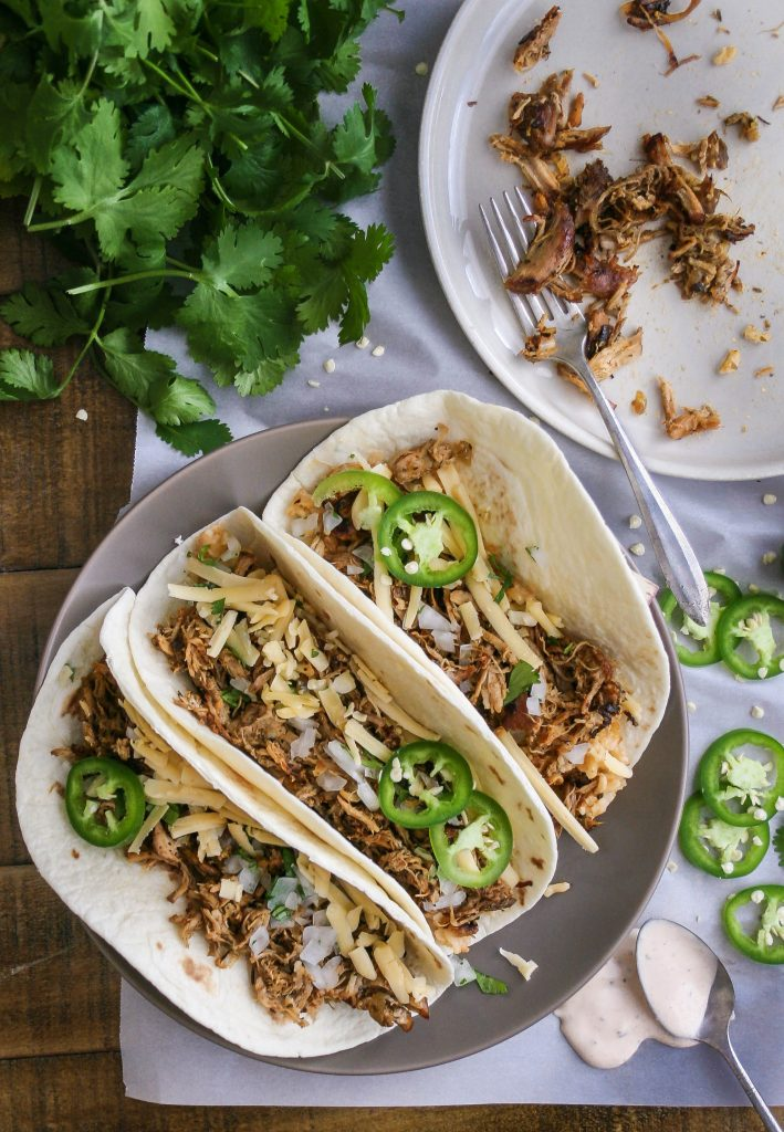 this pork carnitas recipe is full of heat and packed with flavor. it's a small batch recipe, and uses under one pound of pork. literally my favorite carnitas recipe ever. small batch spicy pork carnitas | a flavor journal food blog