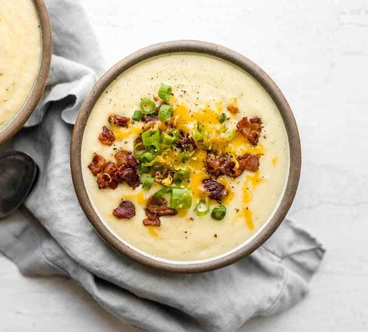 small batch loaded potato soup