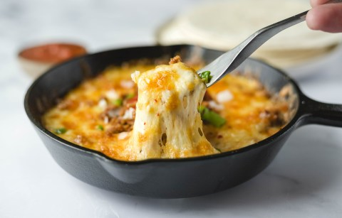 queso fundido with chorizo recipe