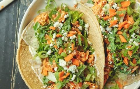 healthier buffalo chicken tacos