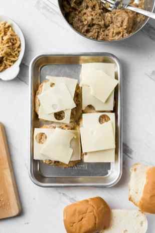 shredded pork french dip sandwich sliders