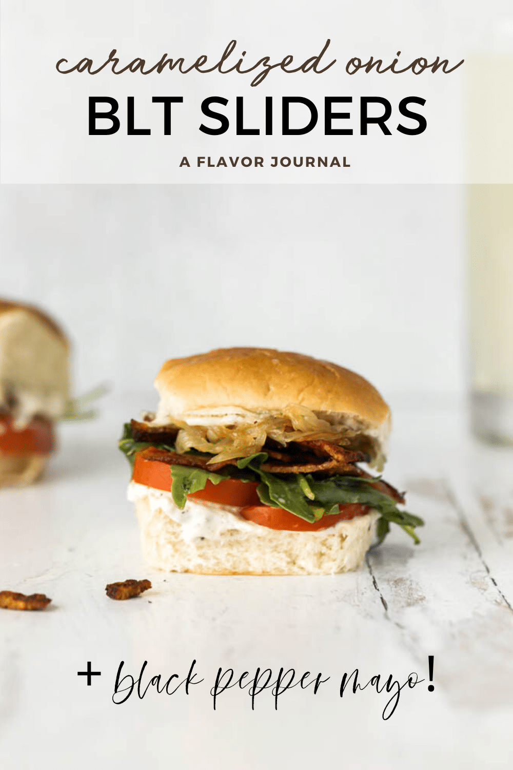 BLT Sliders with Caramelized Onions and Arugula