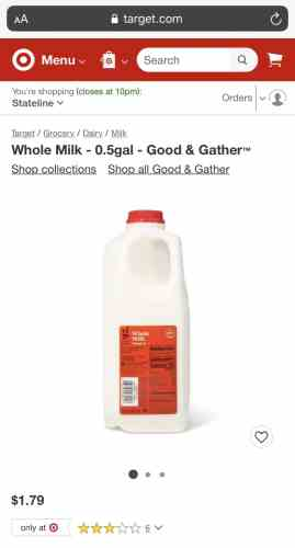 Good & Gather Whole Milk for Midwest Dairy