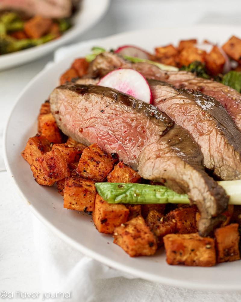 Kansas Beef Marinated Flank Steak and Vegetable Hash-14