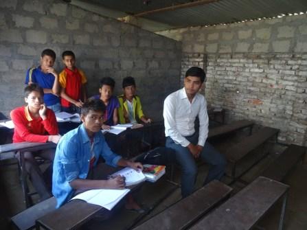 Dans une salle de classe