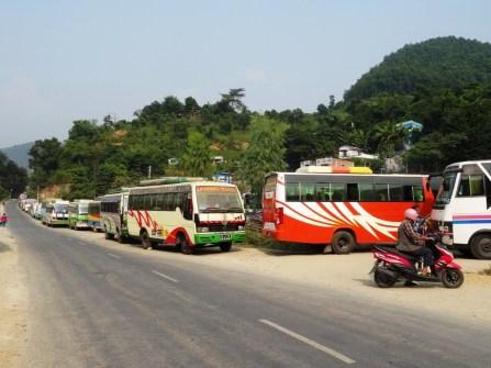 2 km de bus...