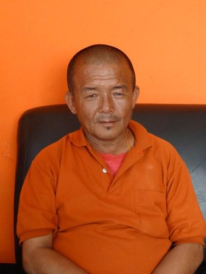 Moine tibétain réfugié à Katmandou