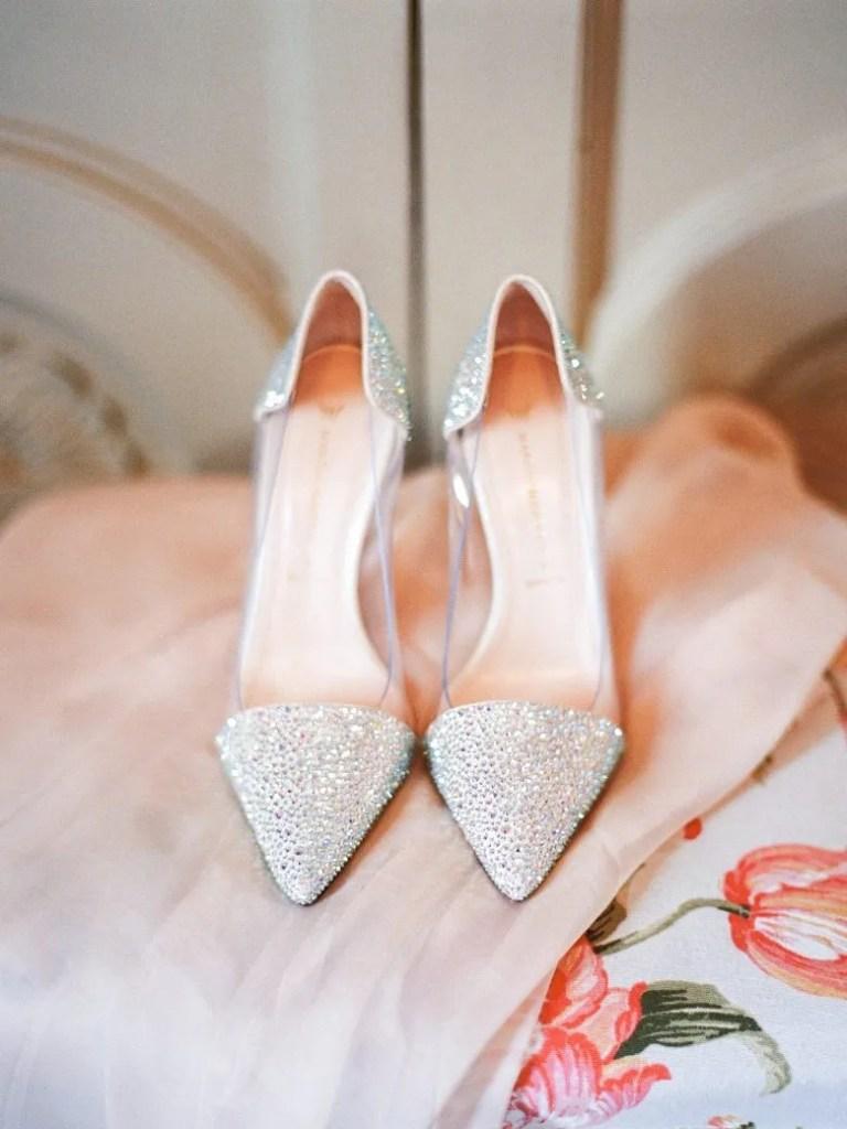 scarpe sposa argento brillante applique tacco