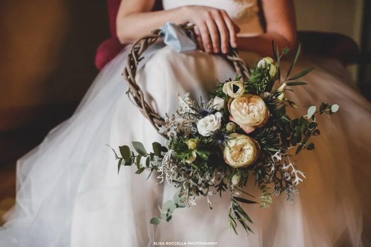 corona invernale per la sposa di fiori d'inverno