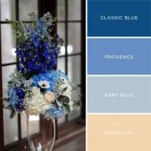 Palette colori fiori blue