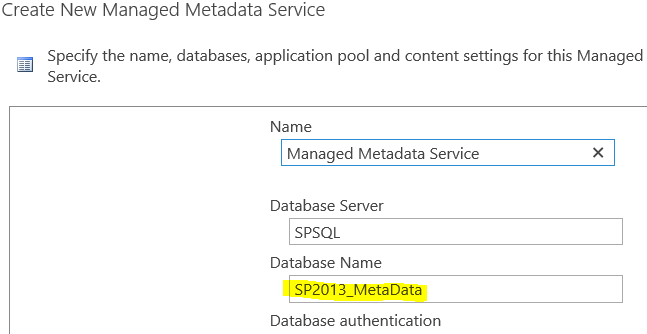 The Managed Metadata Service or Connection is currently not