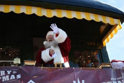 Santa Clause waving