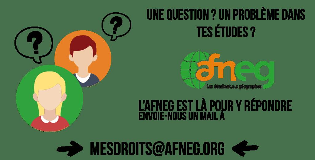 """Mailing """"Mes droits"""" de l'AFNEG"""