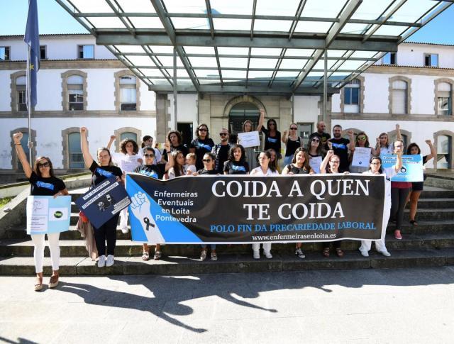 Las enfermeras de Pontevedra se manifiestan contra los contratos de continuidad en el Sergas | A Fondo – Faro de Vigo