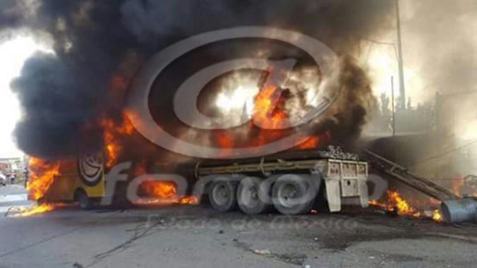 El incendio lo provocó el gas con le que operaba uno de los vehículos.