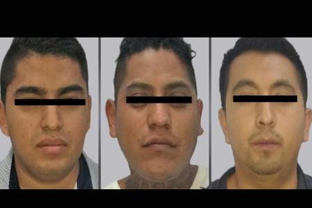 Los tres detenidos quedaron a disposición del Ministerio Público