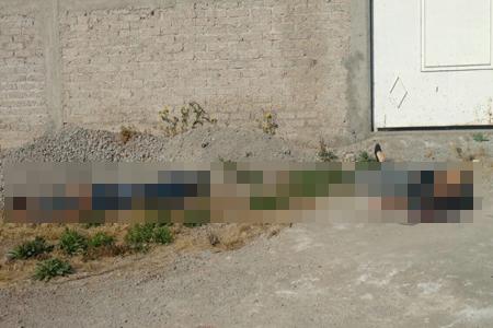 El hombre estaba maniatado mientras la mujer fue ejecutada con el tiro de gracia metros más adelante