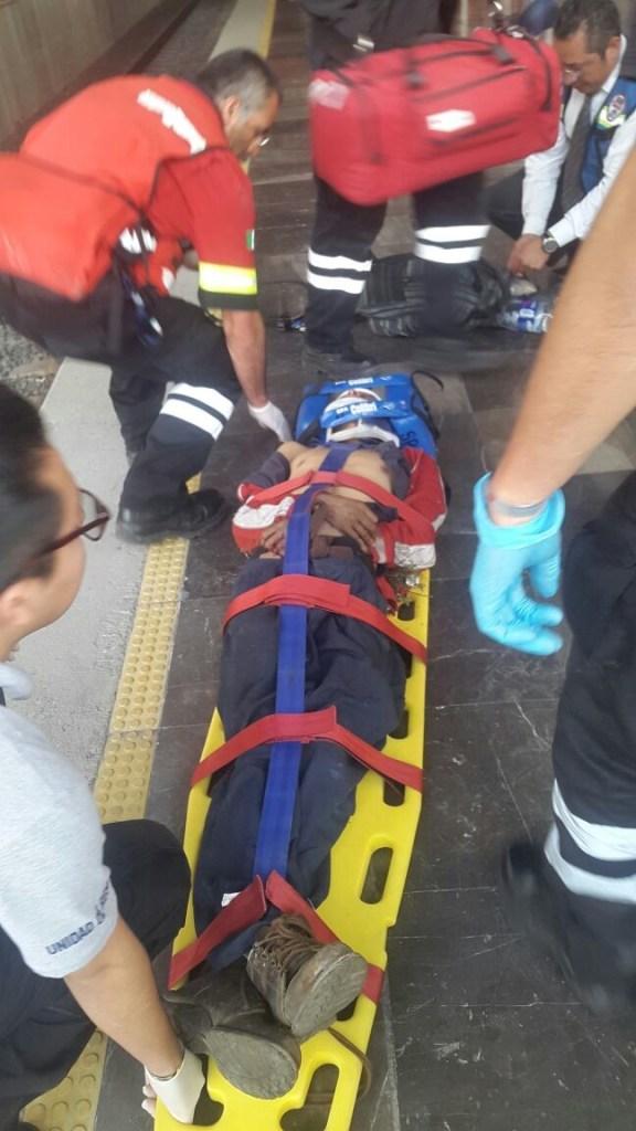 Hombre es arrollado por el Tren Suburbano y sobrevive