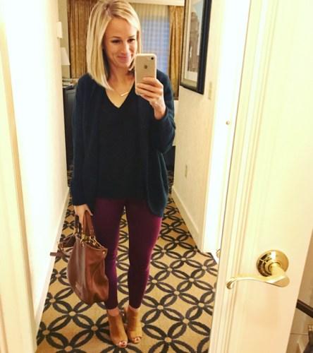 burgundy pants for work