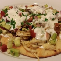 Open Face Chicken Gyros