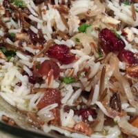 Wild Rice Salad with Dried Cranberries and Apricots