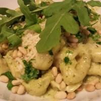 Creamy Basil Arugula Pesto Tortellini