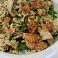 Marinated Chicken Tomato Orzo Salad