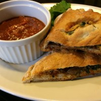 Sausage Spinach Mushroom Calzone